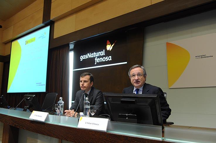Pablo Saavedra (izquierda), secretario de Estado de Medio Ambiente, junto a Rafael Villaseca.