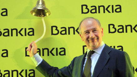 Rodrigo Rato anunciando la salida a bolsa de Bankia.