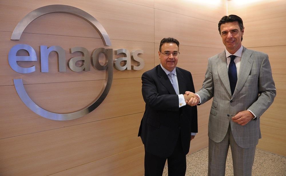 El presidente de Enagás, Antonio Llardén, con el ex ministro de Industria, José Manuel Soria. Foto: Enagás.