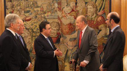 Audiencia del rey Juan Carlos con el consejo de Enagás en 2013. Foto: Casa Real.