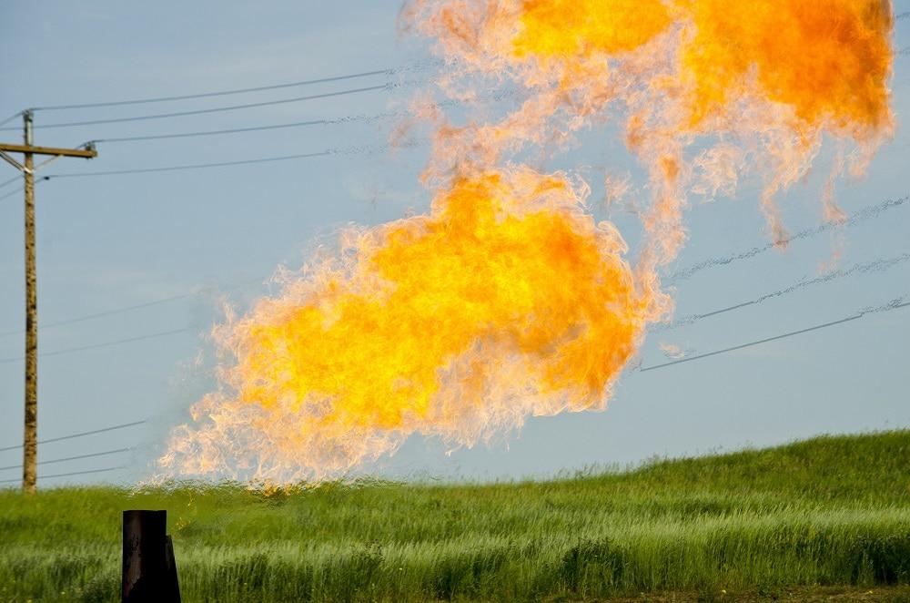 Pozo de gas en Dakota del Norte, Estados Unidos. Foto: Tim Evanson.