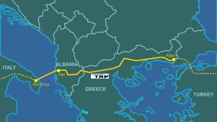 El gasoducto bautizado como Trans Adriatic Pipeline. Imagen: Genti77