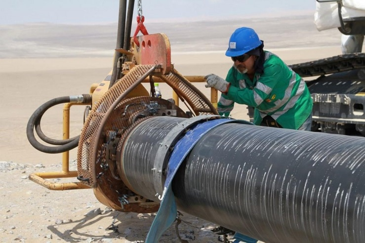 Construcción del Gasoducto Sur Peruano. Foto: Enagás.