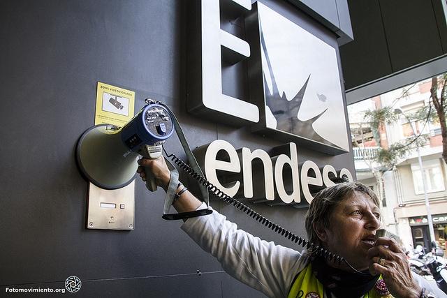 Protesta contra Endesa. Foto: Tono Carbajo / Fotomovimiento.