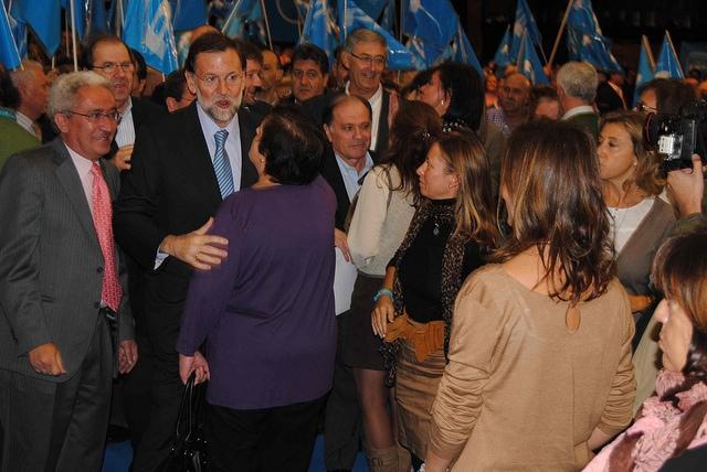 Juan Carlos Aparicio junto a Mariano Rajoy en un acto del PP en Castilla y León. Foto: PP.