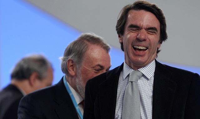José María Aznar, expresidente del Gobierno y miembro del consejo de Atlantic Council, durante la última convención del Partido Popular en Sevilla. Foto: REUTERS/Marcelo del Pozo.