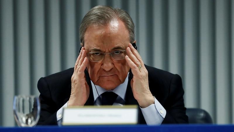 Florentino Pérez, presidente de ACS, durante una conferencia en Madrid. Foto: REUTERS / Juan Medina.
