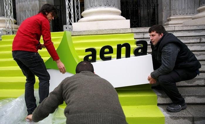 Actos preparativos de la salida a bolsa de AENA (2015). Foto: REUTERS/Andrea Comas.