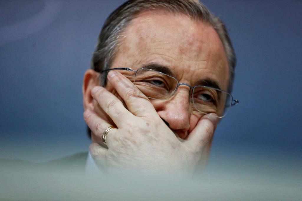 Florentino Pérez, presidente de la constructora ACS y el Real Madrid. Foto: REUTERS / Juan Medina.